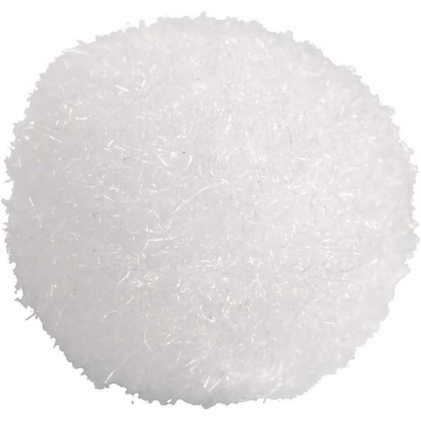 Lot de pompons - Blanc - 10 mm - 450 pcs - Photo n°2