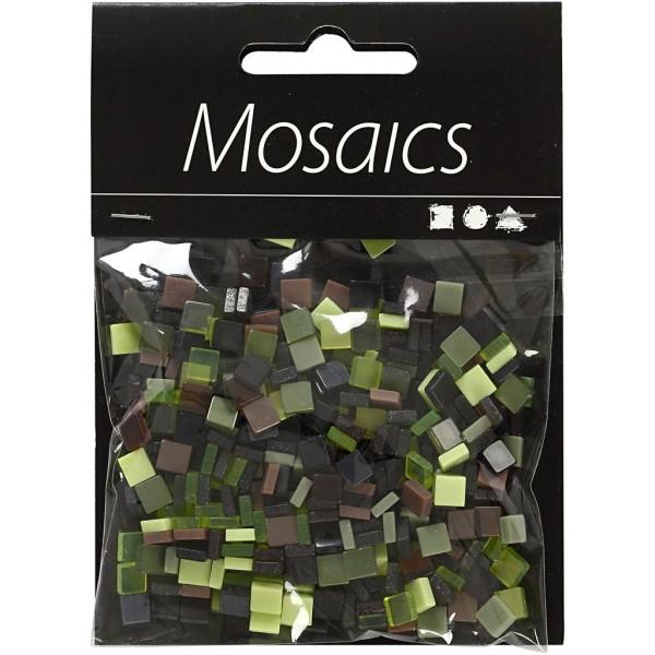 Mini-mosaiques en résine - 5 x 5 mm - 25 gr - Verts - Photo n°2