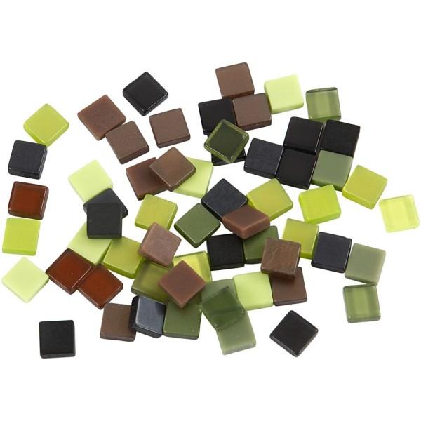 Mini-mosaiques en résine - 5 x 5 mm - 25 gr - Verts - Photo n°1