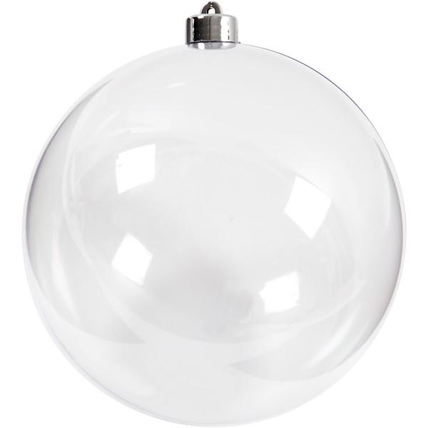Boule transparente à décorer - 15,6 cm - 1 pce - Photo n°1