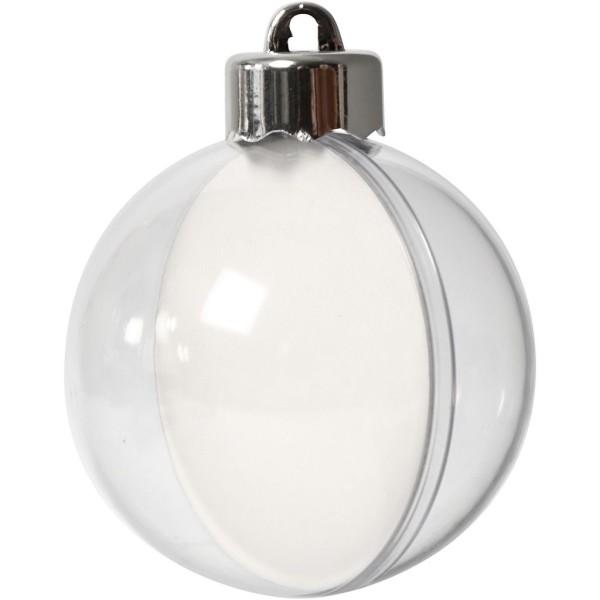 Boule Noël en plastique à décorer - 6 cm - 5 pcs - Photo n°1