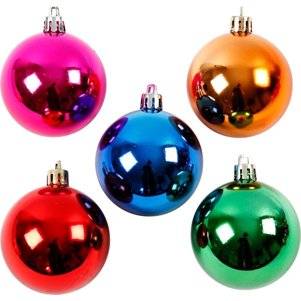 Boules de Noël - Multicolore - 6 cm - 20 pcs - Photo n°1