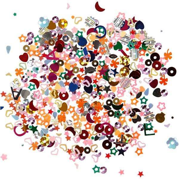 Confettis de table - Différentes formes multicolores - 2 à 5 mm - 30 g - Photo n°1