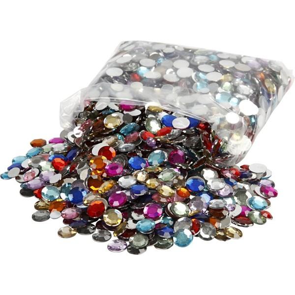 Assortiment Strass Multicolores - 3600 pcs - Photo n°1