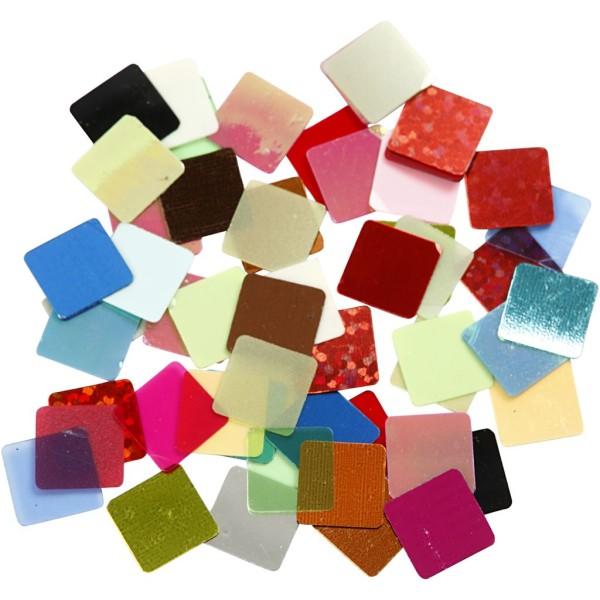 Assortiment de mosaïques - couleurs vives - 10 x 10 mm - 6875 pcs - Photo n°1