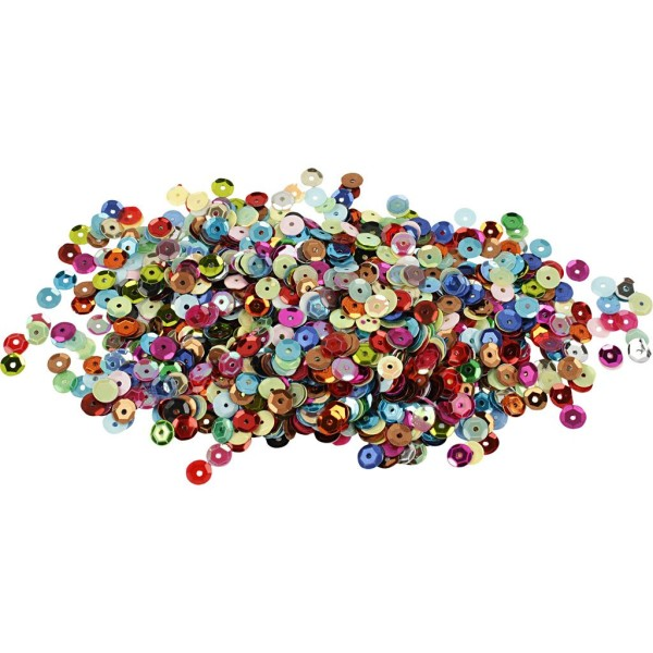 Assortiment de sequins 6 mm - 100 g - Photo n°1