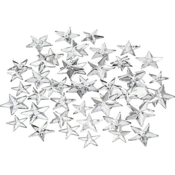 Strass pierres à coller étoiles - Argent - 11 à 16 mm - 360 pcs - Photo n°1