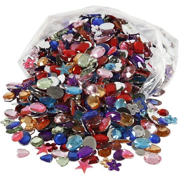 Assortiment Strass Multicolores - 1600 pcs - Photo n°1