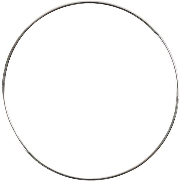 Lot de cercle en métal - Argent - 7 cm - 10 pcs - Photo n°1