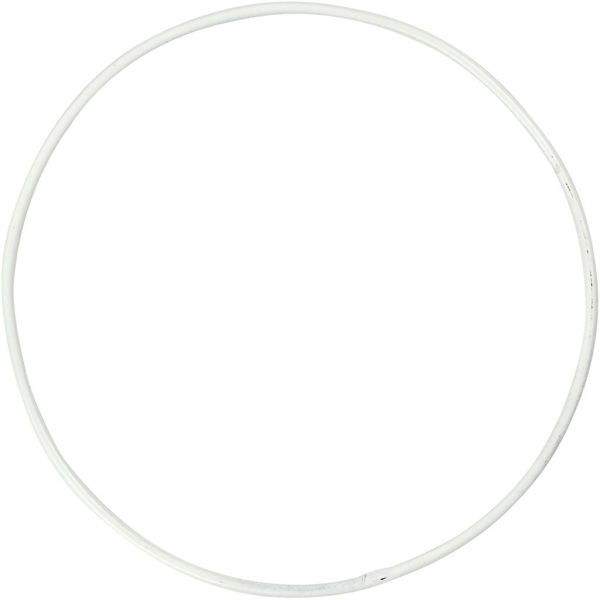 Lot de cercle en métal - Blanc - 10 cm - 10 pcs - Photo n°1