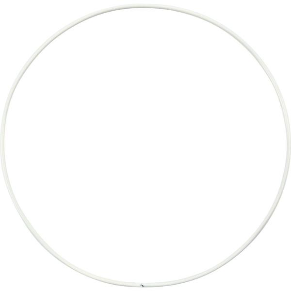 Lot de cercle en métal - Blanc - 15 cm - 10 pcs - Photo n°1