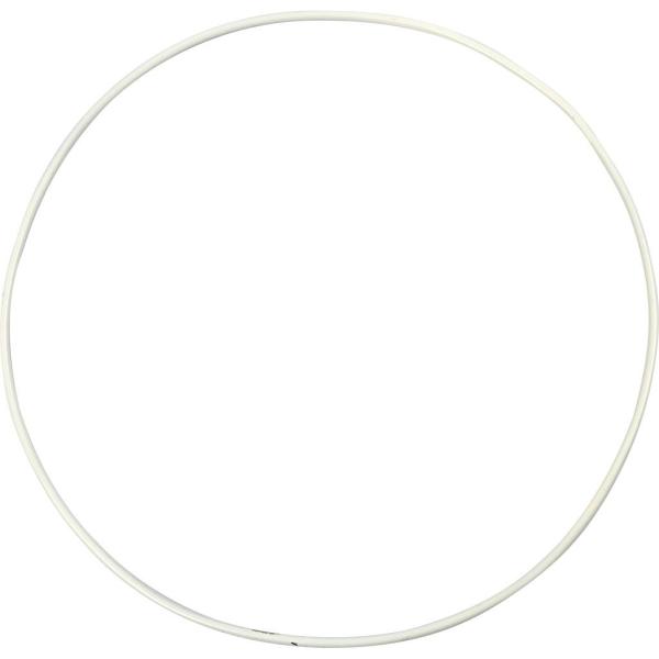 Lot de cercle en métal - Blanc - 20 cm - 5 pcs - Photo n°1