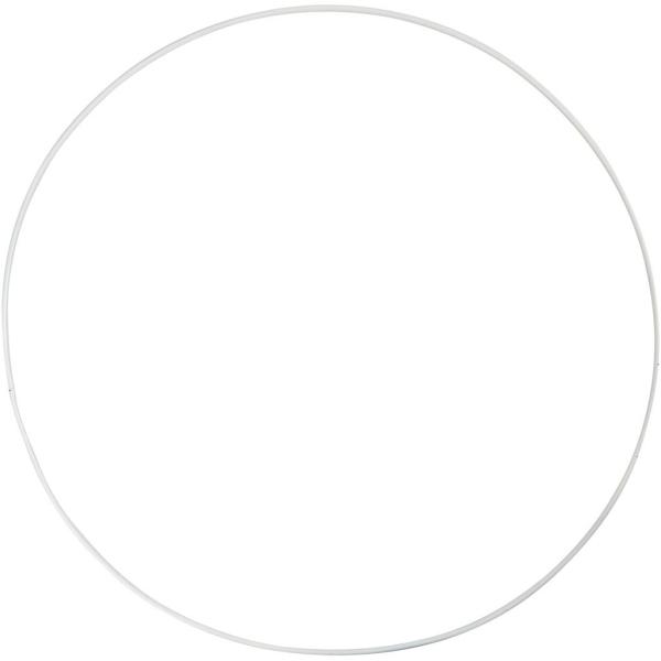 Lot de cercle en métal - Blanc - 30 cm - 5 pcs - Photo n°1