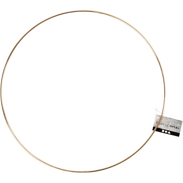 Anneau en métal - Doré - 30 cm de diamètre - Photo n°2