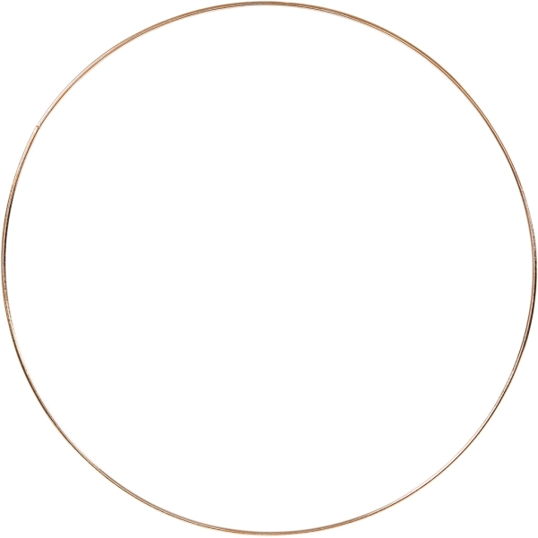 Anneau en métal - Doré - 30 cm de diamètre - Photo n°1
