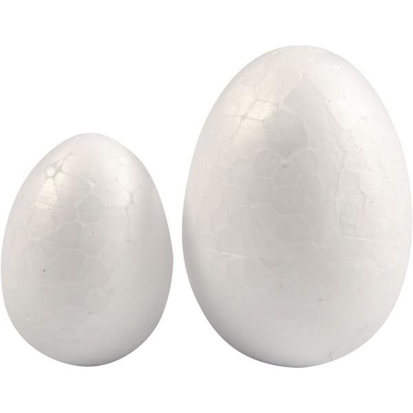 Oeufs en polystyrène - Blanc -  25 à 35 mm - 10 pcs - Photo n°1