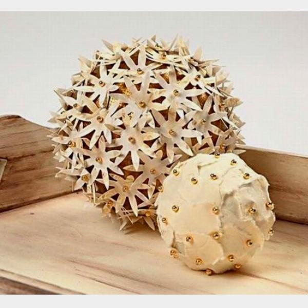 Lot de boules en polystyrène - 10 cm - 5 pcs - Photo n°2