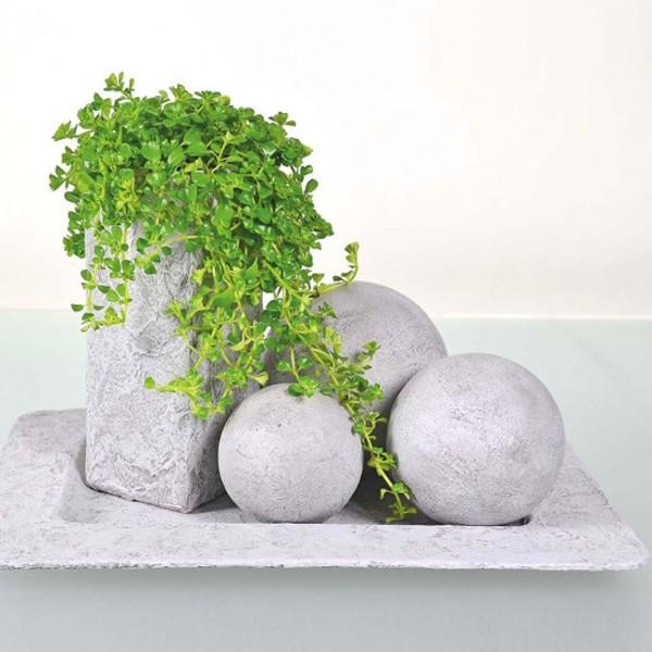 Lot de boules en polystyrène - 10 cm - 5 pcs - Photo n°3