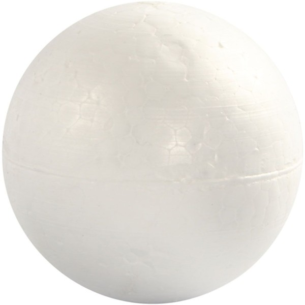 Lot de boules en polystyrène - 10 cm - 5 pcs - Photo n°1