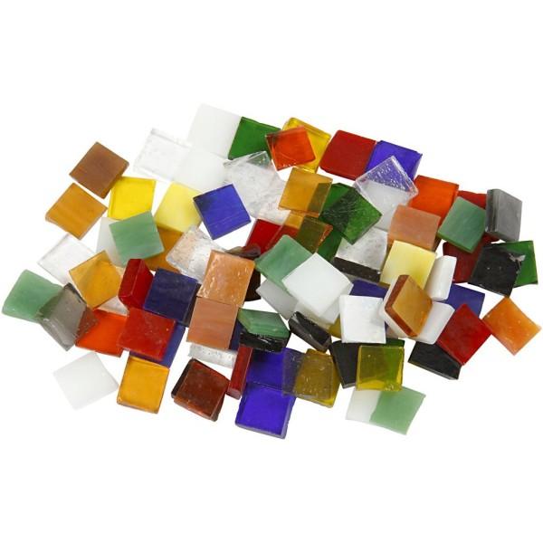 Assortiment de mosaïques en verre - 10 x 10 mm - Couleurs assorties - 700 pcs - Photo n°1