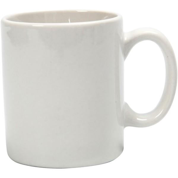 Tasse en porcelaine blanche à décorer - 6 x 7 cm - Photo n°1