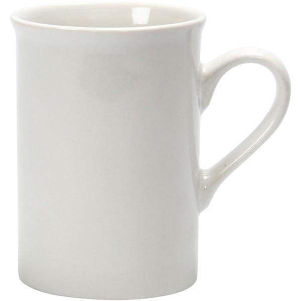 Tasse en porcelaine blanche à décorer - 6,9 x 10 cm - Photo n°1