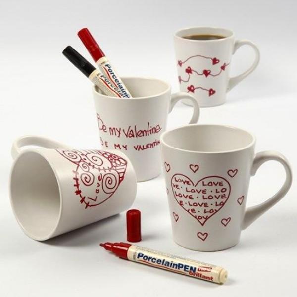 Tasse en porcelaine à décorer - 8 x 10 cm - Photo n°2