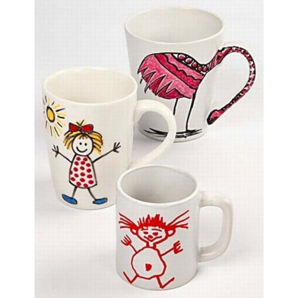 Tasse en porcelaine à décorer - 8 x 10 cm - Photo n°4
