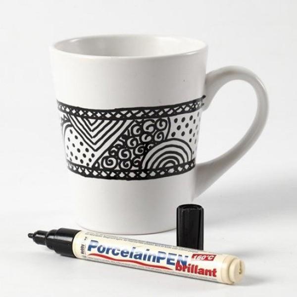Tasse en porcelaine à décorer - 8 x 10 cm - Photo n°6