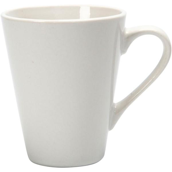 Tasse en porcelaine à décorer - 8 x 10 cm - Photo n°1