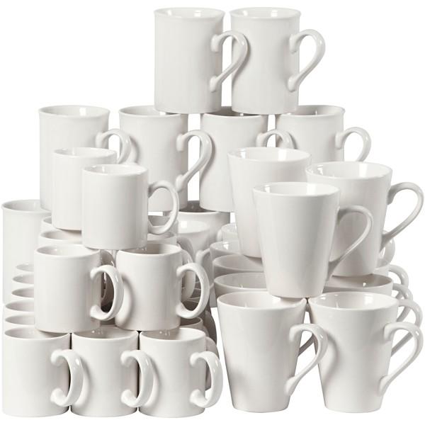 Tasses - Blanc - 7 x 10 cm - 48 pcs - Photo n°1