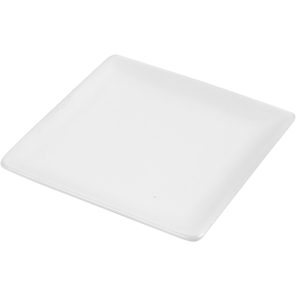 Assiettes carrées - Blanc - 12,7 x 12,7 cm - 10 pcs - Photo n°1