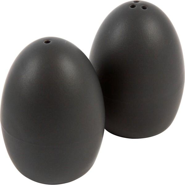 Set poivre et sel, h: 7 cm, 6 sets, noir - Photo n°1