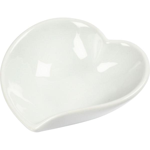 Plats en porcelaine Coeur - Blanc - 12 pcs - Photo n°1