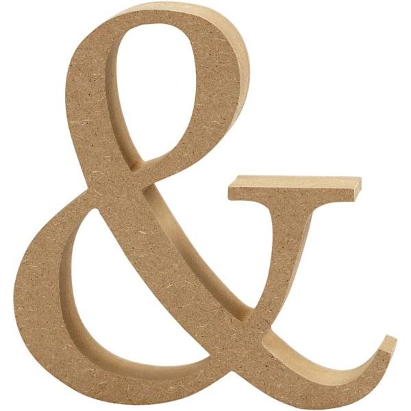 Lettre majuscule en bois - & - 13 cm - Photo n°1