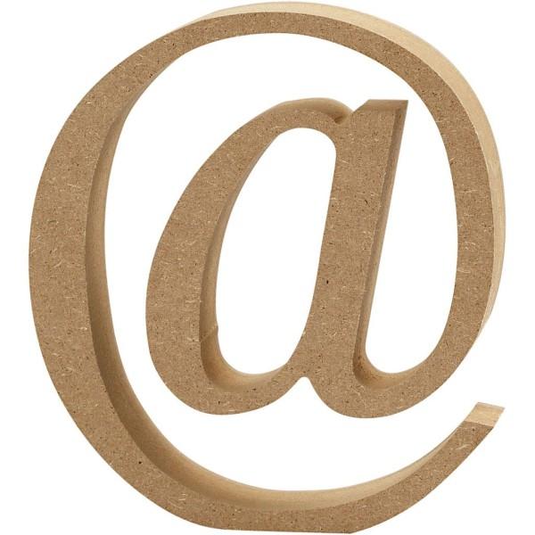 Lettre majuscule en bois - @ - 13 cm - Photo n°1
