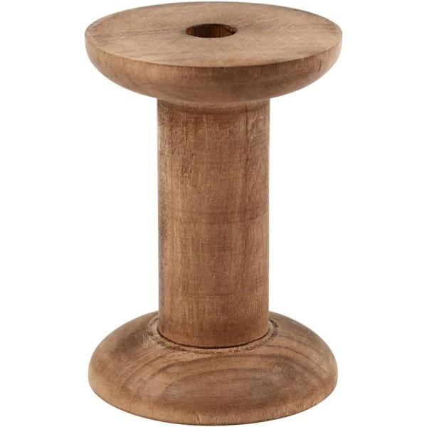 Bobines en bois foncé vintage - 20 x 70 mm - 10 pcs - Photo n°1