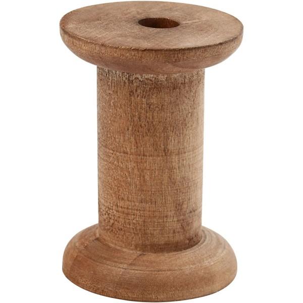 Bobines en bois foncé vintage - 30 x 70 mm - 10 pcs - Photo n°1