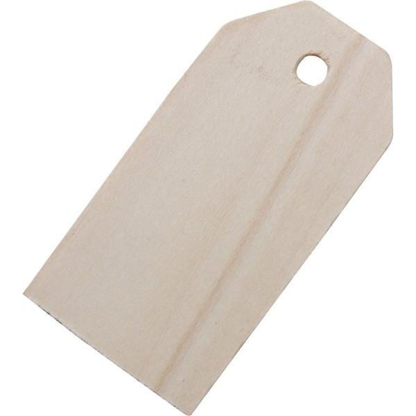 Étiquettes en bois - 3 x 6 cm - 10 pcs - Photo n°1