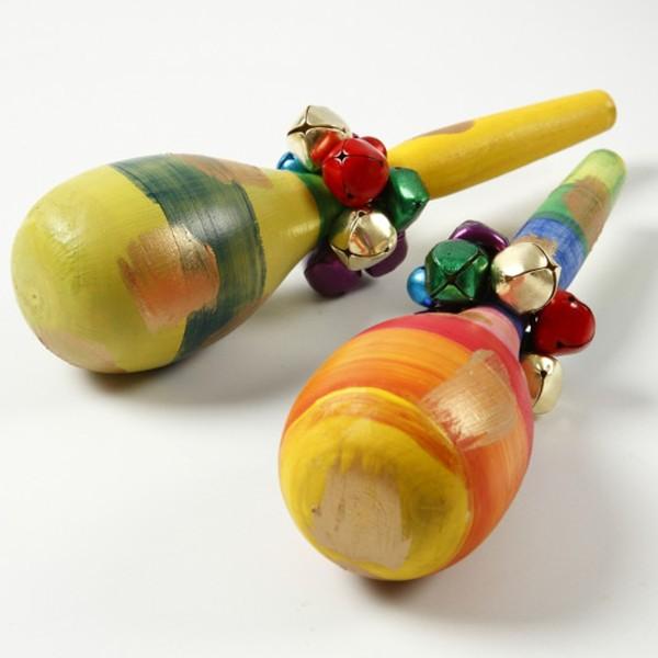 Maracas en bois à décorer - 20 cm - 1 pc - Photo n°4