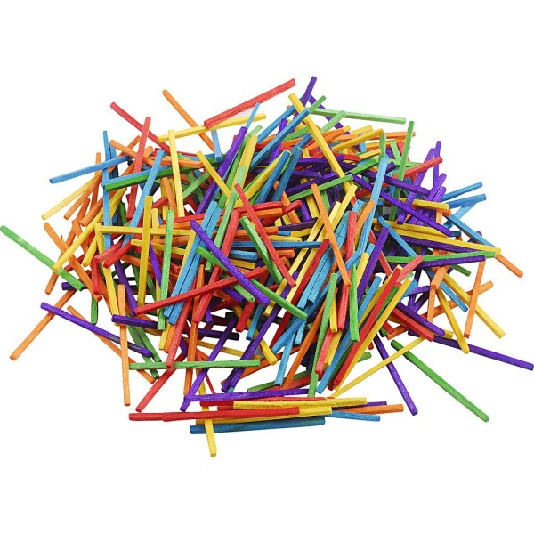 Allumettes - Multicolores - 2 mm x 5 cm - 4300 pcs - Photo n°1