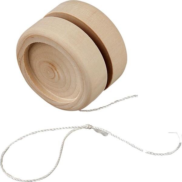 Yo-yo en bois à décorer - 5 x 3 cm - Photo n°1