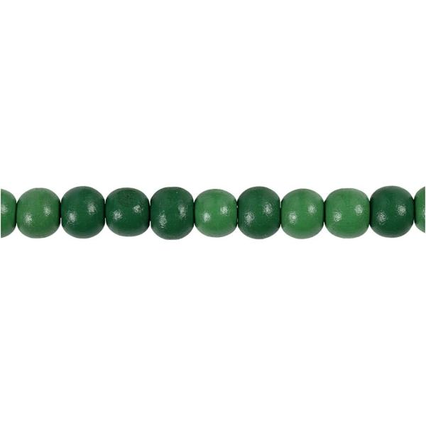 Perles en bois - Vert  - 8 mm - 80 pcs - Photo n°3