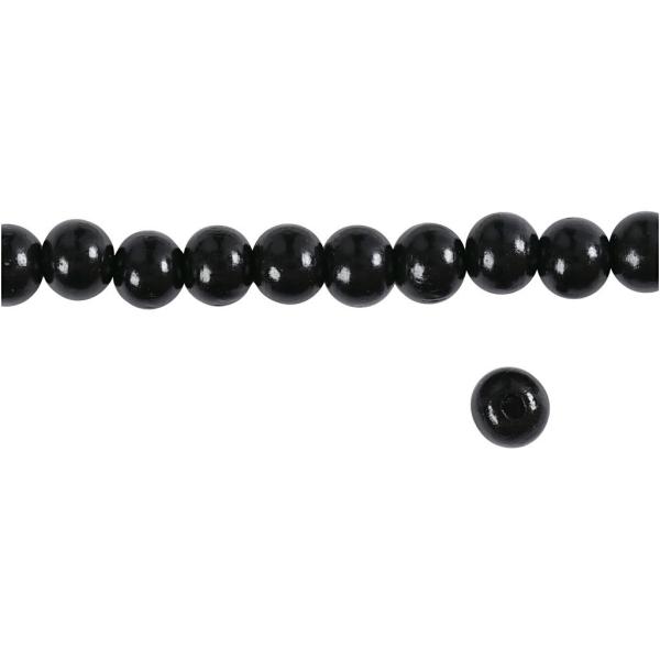Perles en bois - Noir - 10 mm - 70 pcs - Photo n°3