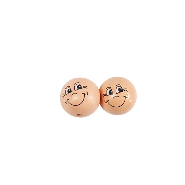 Têtes poupées en bois à coller - 3 cm - 10 pcs - Photo n°1
