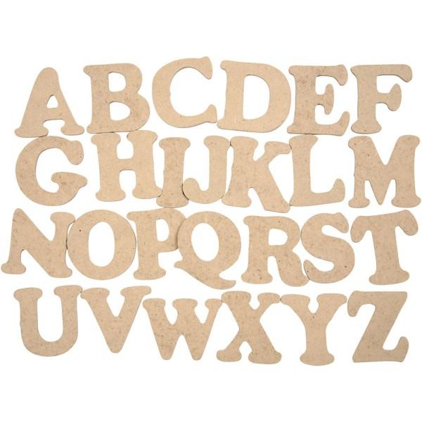 Alphabet en bois - Lettres majuscules - 4 cm - 26 pcs - Photo n°1