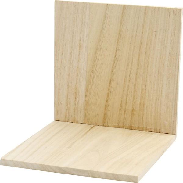 Serre-livre en bois à décorer - 15 x 15 x 15 cm - Photo n°1