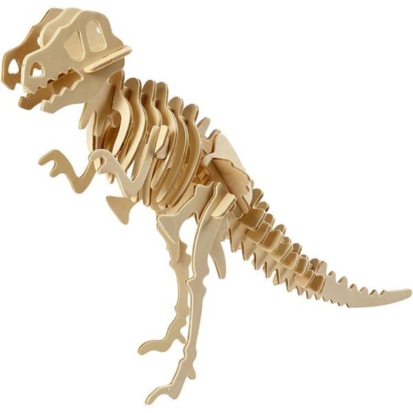 Puzzle 3D en bois à monter - Dinosaure - 8 x 23 x 33 cm - Photo n°1