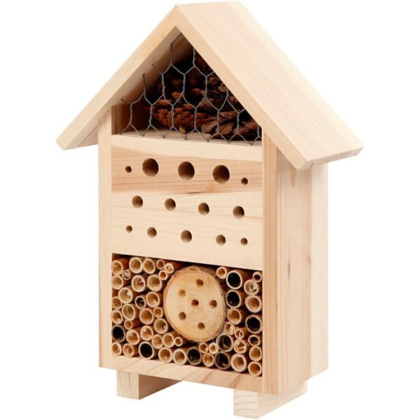 Hôtel à insectes en bois à décorer - 18,4 x 26,1 cm - Photo n°1