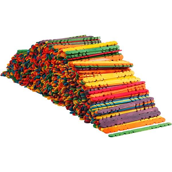 Bâtonnets en bois de construction - couleurs assorties - 10 x 11,4 cm - 1000 pcs - Photo n°1